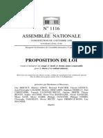 Proposition de loi