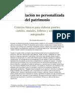 Apunte Interpretación del Patrimonio II (Bertonatti 2019)