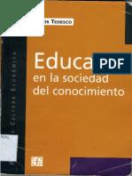 TEDESCO-Edcuar en la sociedad del conocimiento