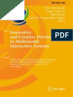 (IFIP Advances in Information and Communication Technology 425) Yves Rybarczyk, Tiago Cardoso, João Rosas, Luis M. Camarinha-Matos (eds.) - Innovative and Creative Developments in Multimodal Interacti.pdf