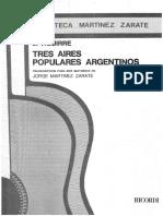 J. Aguirre - Tres aires populares argentinos - transcr. 2 guit. Jorge Martínez Zárate