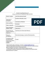 Formato de inscripcioìn para el Congreso CDIJUM