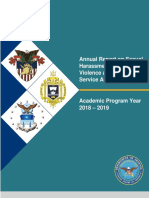 DoD Annual Report on Sexual Harassment and Violence