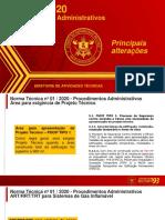 NT 01 - Principais alterações