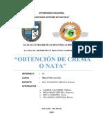 OBTENCIÓN DE CREMA O NATA