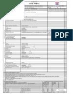 Datasheet for Gate Valve