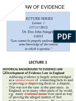 GENERAL OVERVIEW OF THE LAW OF EVIDENCE- Lecture  1-8.pptx