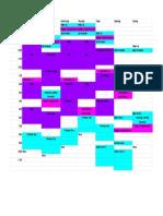 Spreadsheet for Rota