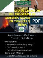 PROGRAMA MAESTRÍA EN CIENCIAS DE LA TIERRA