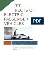 Market prospects of electric passenger vehicles 1