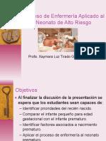 PROCESO DE ENFEMERÍA APLICADO AL NEONATO DE ALTO RIESGO