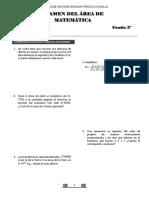 examen recuepracion matematica 5ª