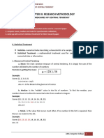 CHAPTER III- RESEARCH METHODOLOGY- MEASURES OF CENTRAL TENDENCY-1