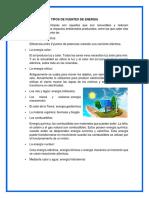 TIPOS DE FUENTES DE ENERGIA