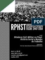 Revista Piauiense de História Social e do Trabalho. Ano V, n. 08-09