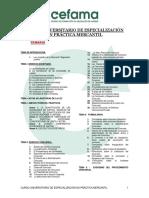 Especialización en Derecho Mercantil