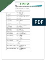 Tabela - Derivadas e Integrais