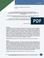 Coria_2018_políticas de Formación Docente en Argentina