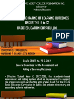 Assessment and Rating of Learning Outcomes - K-12 Basic Curriculum