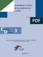 La buena enseñanza y el éxito escolar en los estudiantes en América Latina - Cuadernos de Discusión - 3