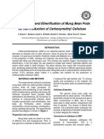 Mercerization and Etherification of Mung Bean Pods for the Production of Carboxymethyl Cellulose