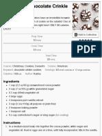 Best Fudgy Chocolate Crinkle Cookies - Cafe Delites