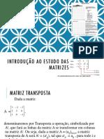 Álgebra Linear - Aula 3 - Introdução ao estudo das Matrizes 3