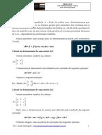 Álgebra Linear - Aula 4 - Determinantes -Parte 1