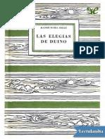 Las elegias de Duino - Rainer Maria Rilke.pdf
