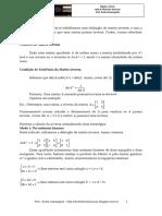 Álgebra Linear - Aula 6 - Matrizes Inversas