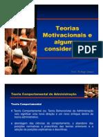 Teorias Motivacionais [Modo de Compatibilidade
