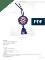Receita Colar Mandala Crochê • Círculo S_A