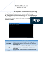 Command Line Network Tools Worksheet for Beginners