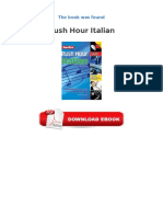 Rush Hour Italian PDF