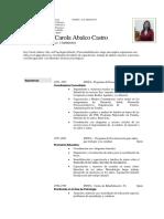 Curriculum Carol Abalco