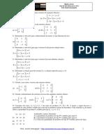Álgebra Linear - Exercícios para a AV1