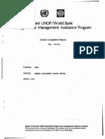 World Bank (1985) - Energy Status Report