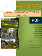 Hotel ecologico plan de marketing de servicios