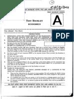 CSE Prelims 2010 Economics Paper