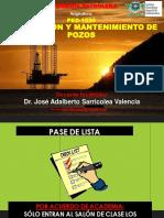 2.- TMP - EXPO - Encuadre - Terminacion y mantenimiento de pozos - Dr. Jose A. Sarricolea Valencia