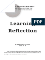 SPED Reflection