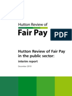 Will Hutton Review of Fair Pay Interim Report