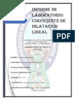 6 COEFICIENTE DE DILATACION LINEAL