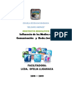Proyecto Educativo redes sociales 2018