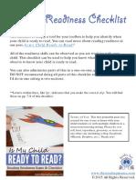 Reading Readiness Checklist