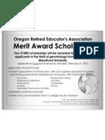Ore a Award Flyer 2011