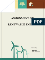 ASSIGNMENT ON RENEWABLE ENERGY