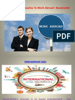 7 Most Ideal Approaches to Work Abroad– Naukriorbit