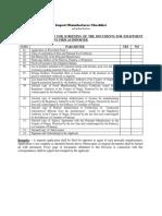Import Manufacturer Check-List