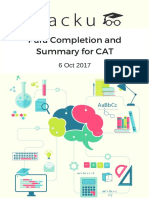 Para Completion and Summary questions for CAT PDF